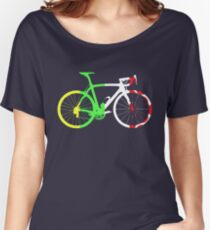 Bike Tour de France Jerseys (Vertical) (Big)  Women's Relaxed Fit T-Shirt