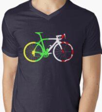 Bike Tour de France Jerseys (Vertical) (Big)  Men's V-Neck T-Shirt