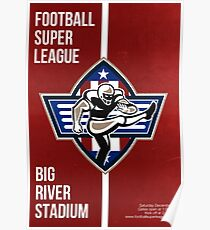 American Football Placekicker Super League Poster Art Poster