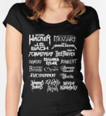 Heavy Metal-style Classical Composers Women's Fitted Scoop T-Shirt