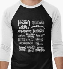 Heavy Metal-style Classical Composers Men's Baseball ¾ T-Shirt