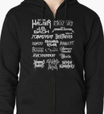 Heavy Metal-style Classical Composers Zipped Hoodie