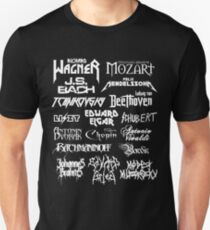 Heavy Metal-style Classical Composers Slim Fit T-Shirt
