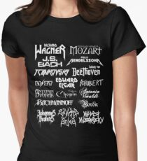 Heavy Metal-style Classical Composers Women's Fitted T-Shirt