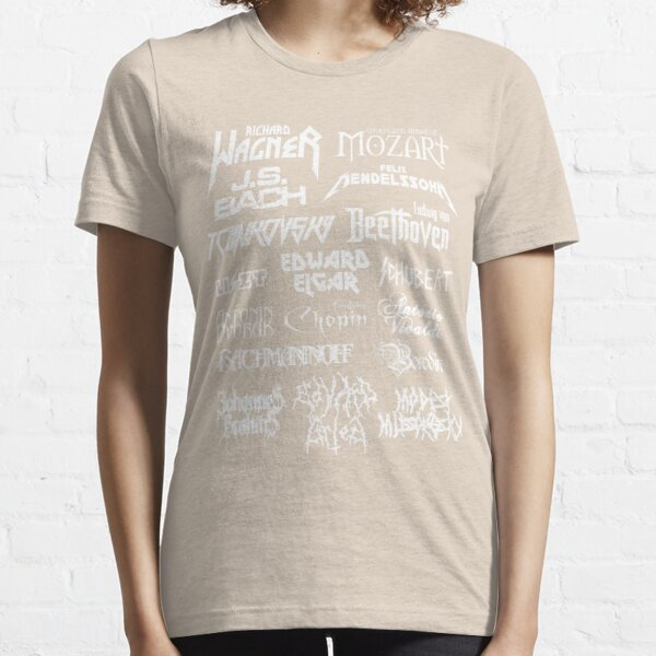 Heavy Metal-style Classical Composers Essential T-Shirt
