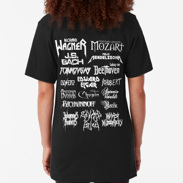 Gehen Sie hier -> https://www.redbubble.com/people/ragetroll/works/41674430-heavy-metal-style-classical-composers-black Slim Fit T-Shirt