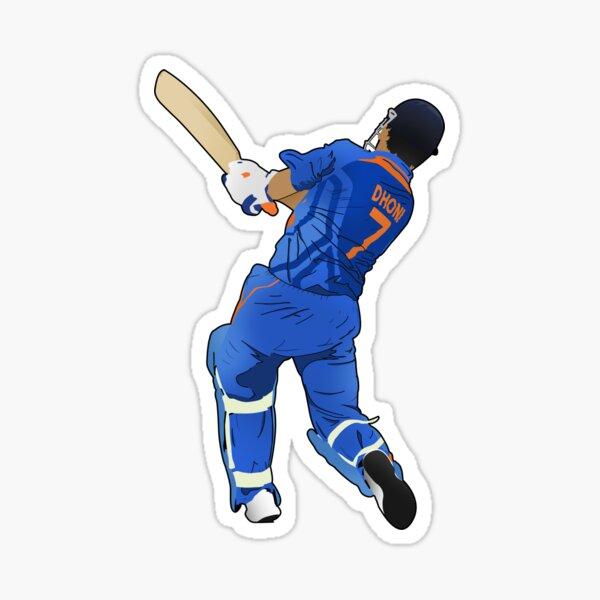 MS Dhoni Sticker