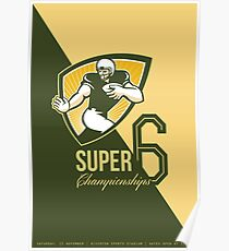 American Football Super 6 Championship Poster  Poster