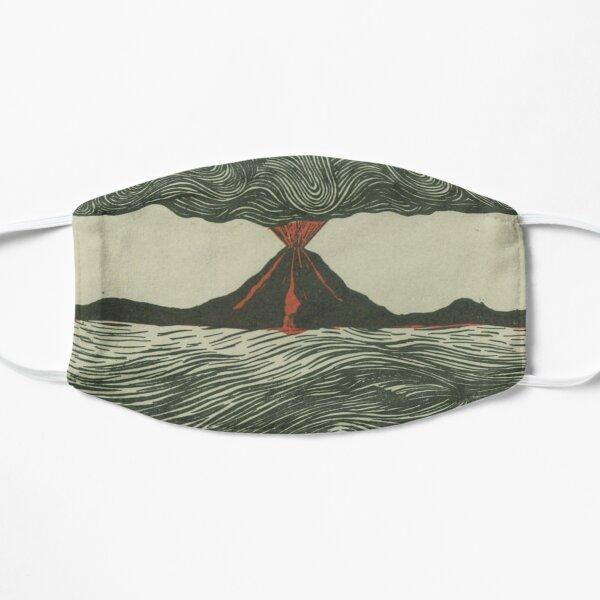 Volcano Woodcut Flat Mask