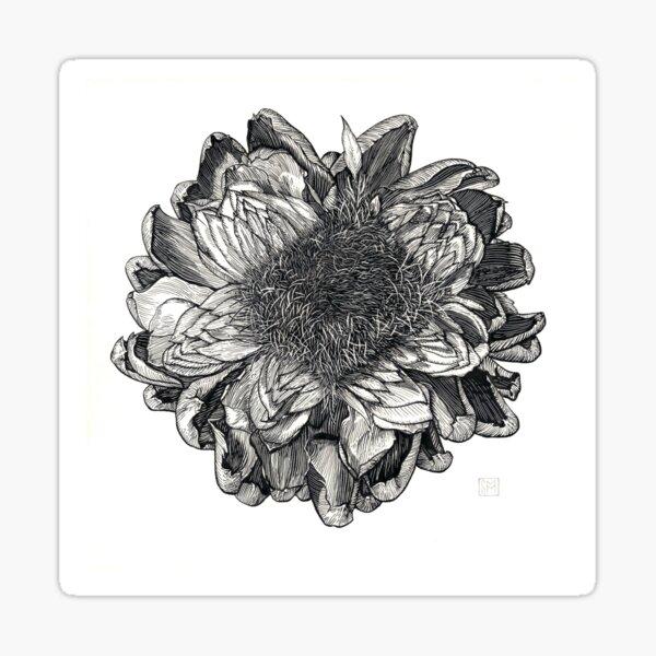 Artichoke Blossum Sticker