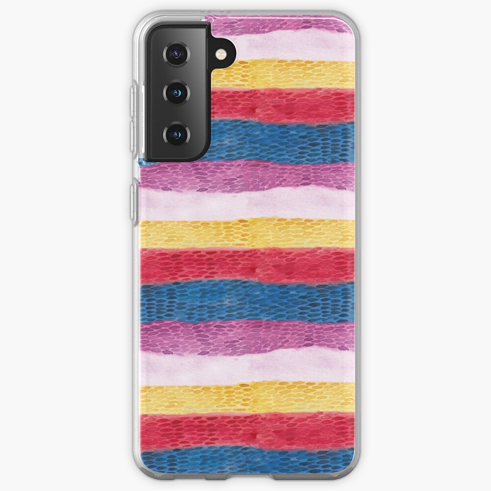 Reptile animal print_ hand painted watercolour Case & Skin for Samsung Galaxy