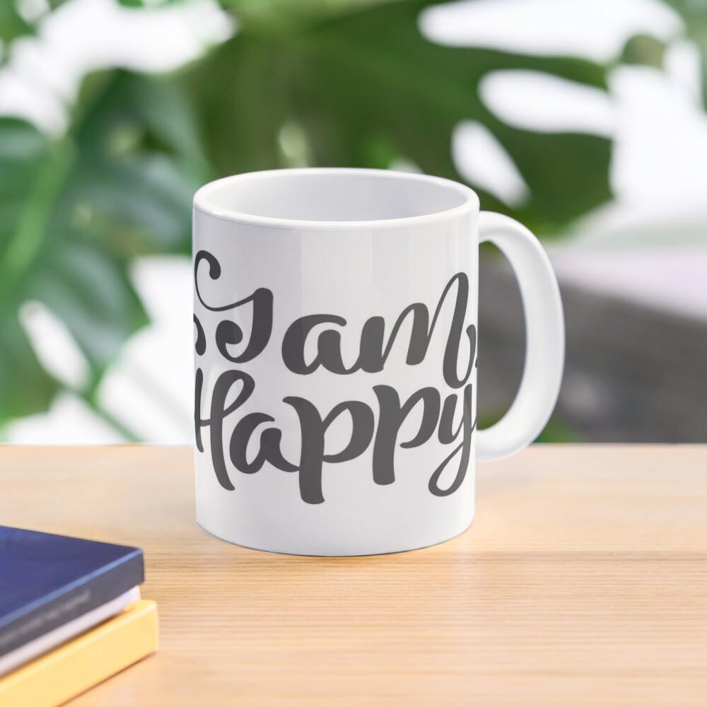 Ich bin glücklich - Blume des Lebens Tasse