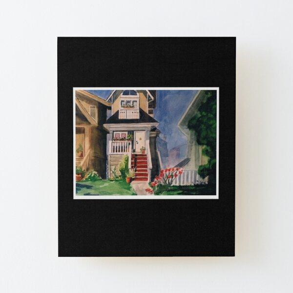 Skinny House Wood Mounted Print