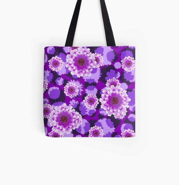 Purple Rain All Over Print Tote Bag