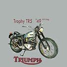 1949 Triumph Trophy TR 5 T Shirt   by JohnLowerson