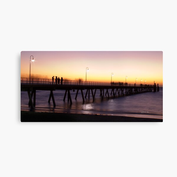 Sunset on Glenelg Pier Canvas Print