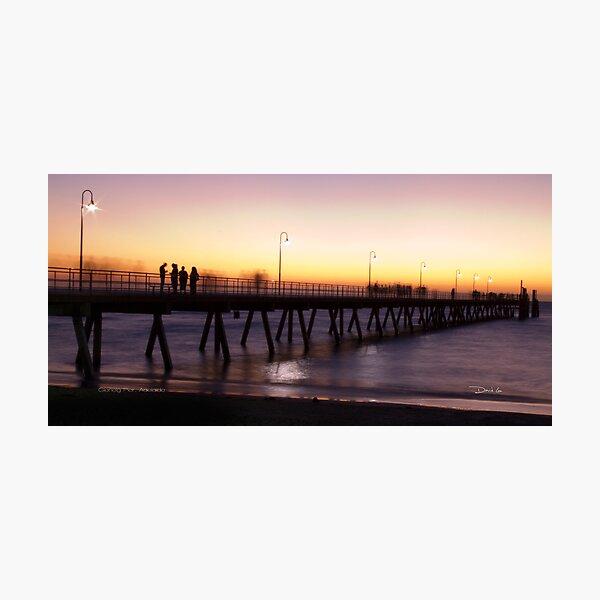 Sunset on Glenelg Pier Photographic Print