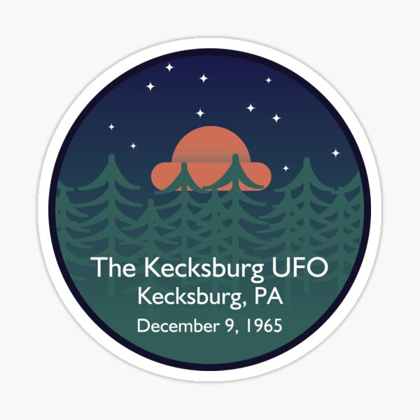 The Kecksburg UFO • Paranormal Collection Sticker