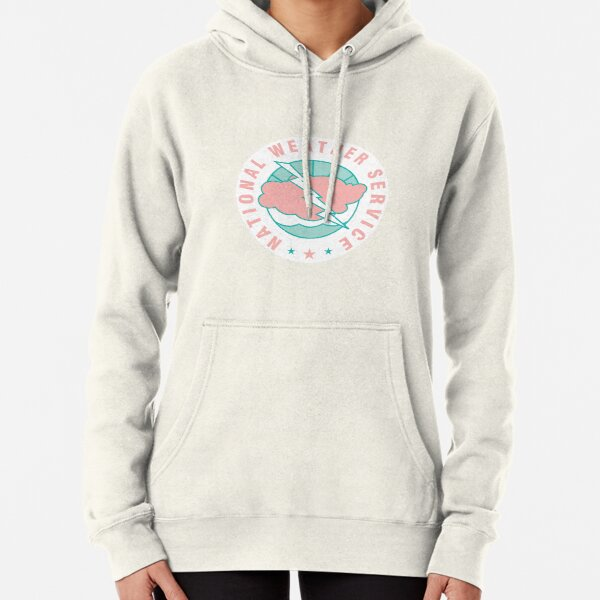 National Weather Service logo (pink x teal) Pullover Hoodie