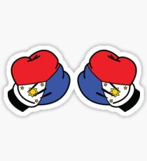 MP Mickey Pacquiao Filipino Flag Boxing Gloves by AiReal Apparel Sticker