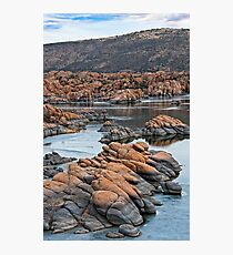 Ice and Granite Dells at Prescott Arizona Photographic Print