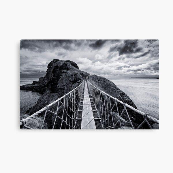Carrick-a-Rede Rope Bridge Canvas Print