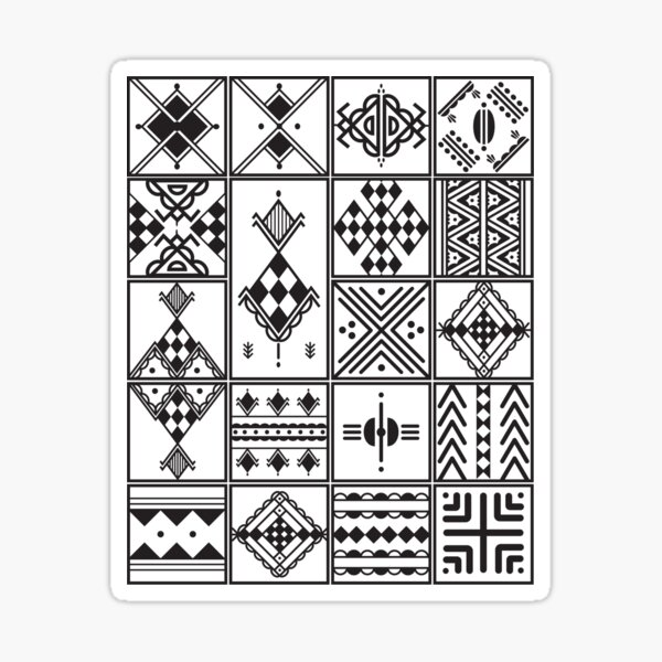 Kabyle Amazigh motif graphic Sticker