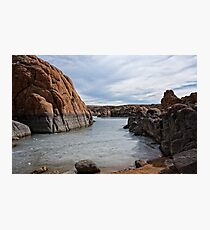 Granite Dells Winter at Prescott Arizona Photographic Print