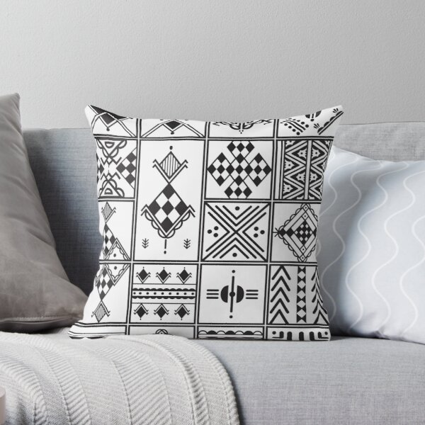 Graphisme motif kabyle Amazigh Coussin