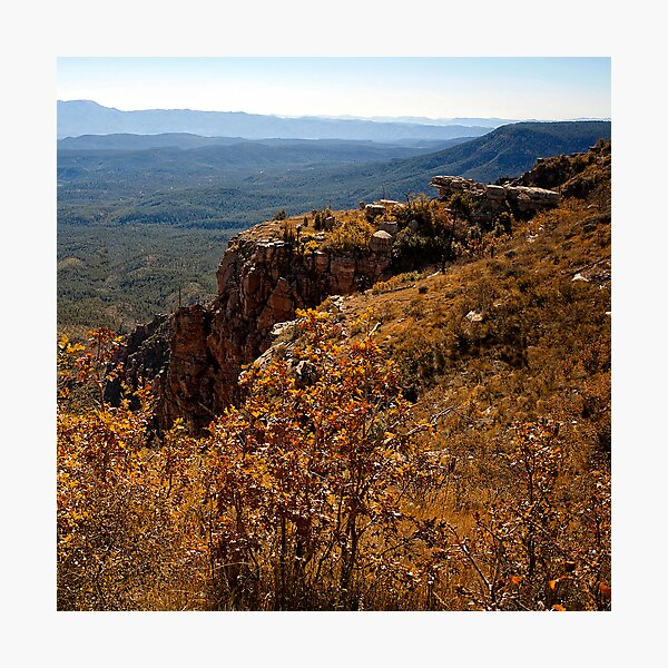 Mogollon Rim Country Autumn View Photographic Print