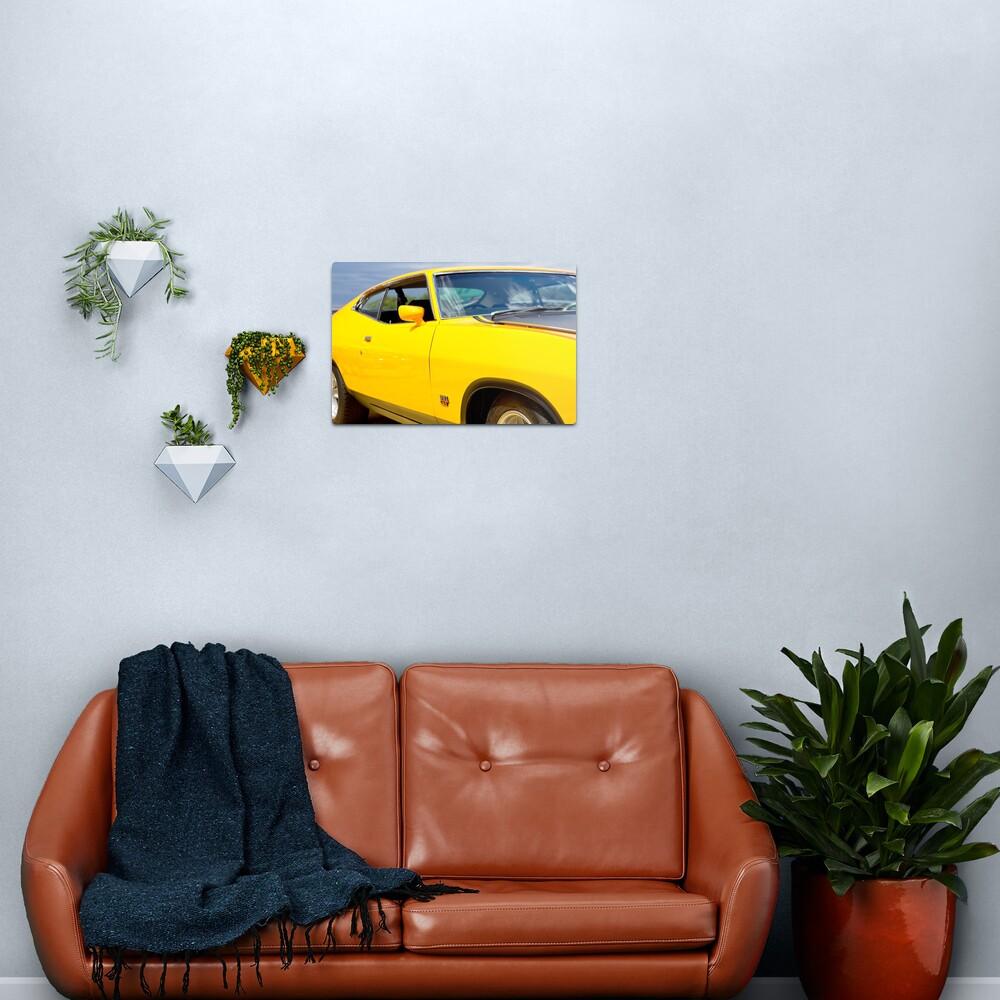 Yellow Ford XA coupe Metal Print