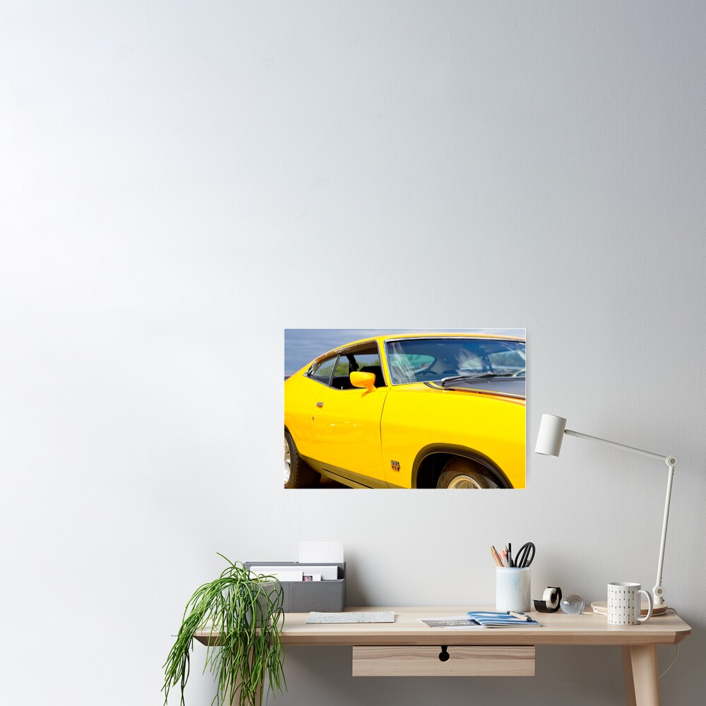 Yellow Ford XA coupe Poster