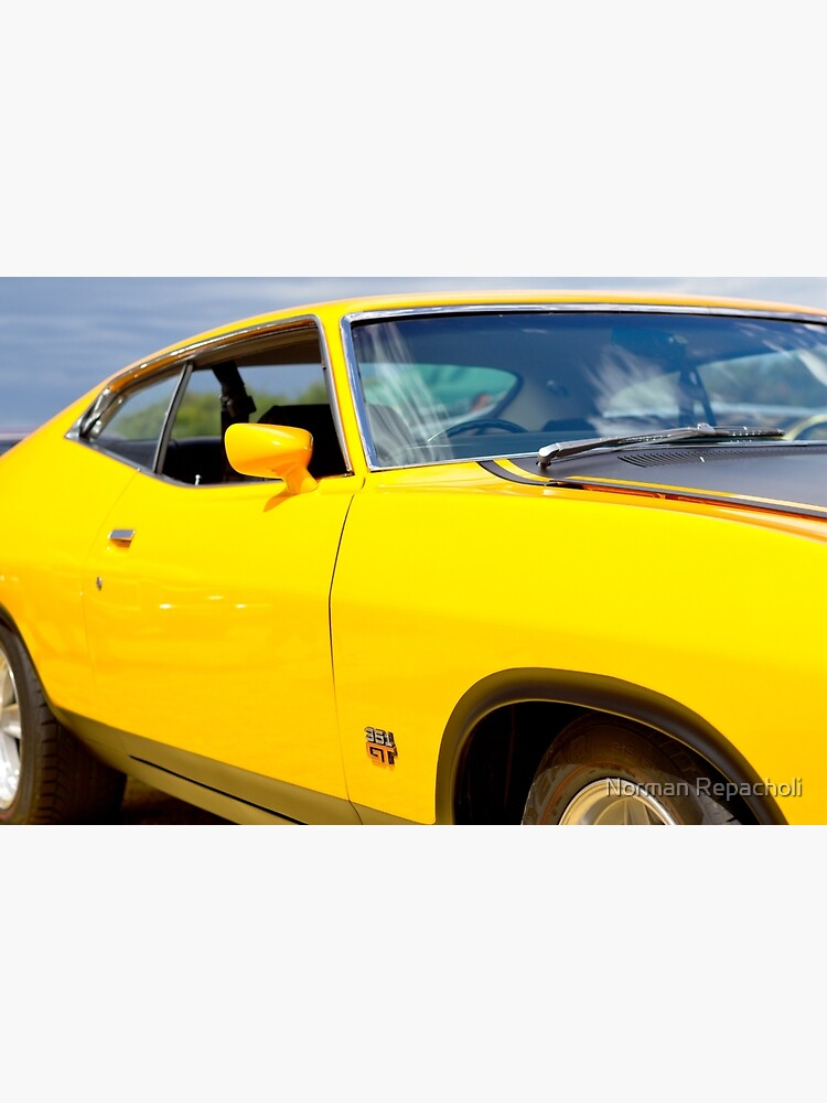 Yellow Ford XA coupe by keystone