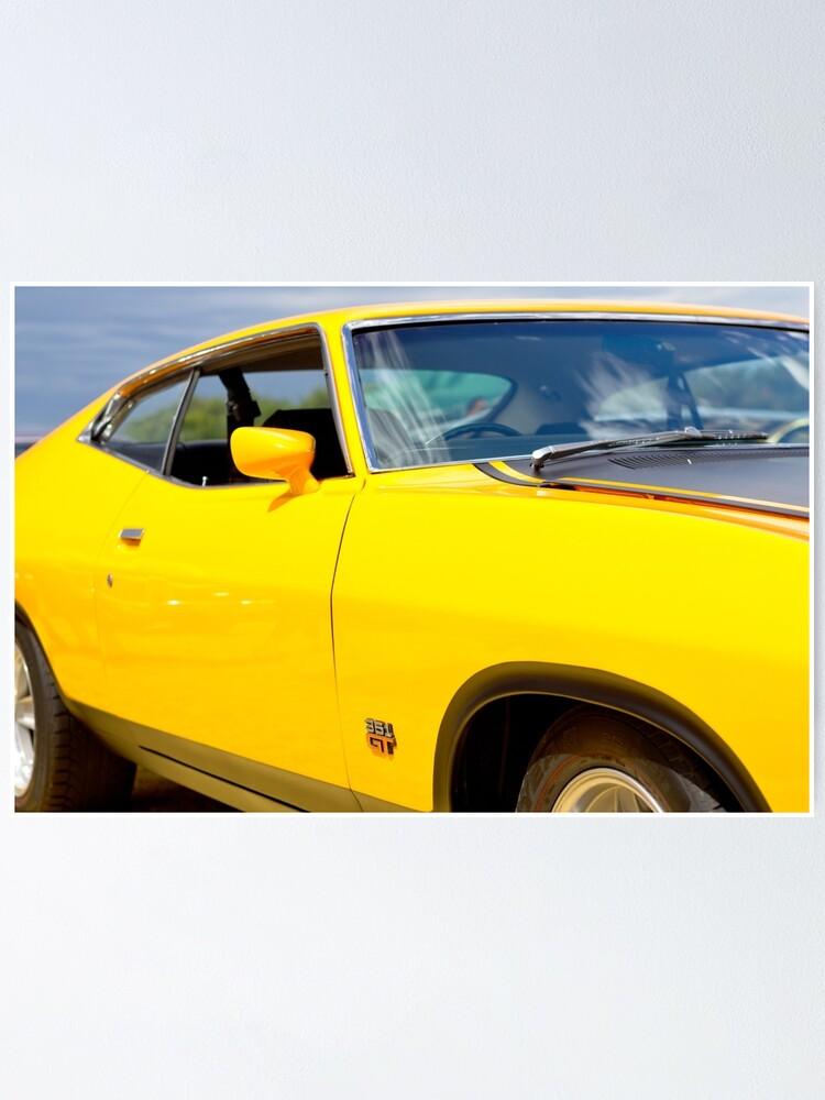 Alternate view of Yellow Ford XA coupe Poster