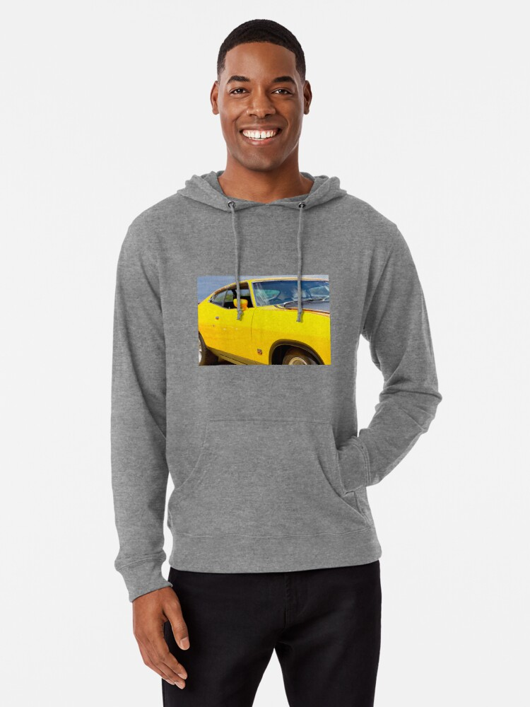 Alternate view of Yellow Ford XA coupe Lightweight Hoodie