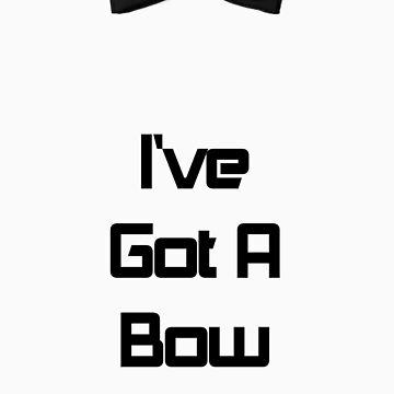 """I've got a Bow"" Black by Temorisse"