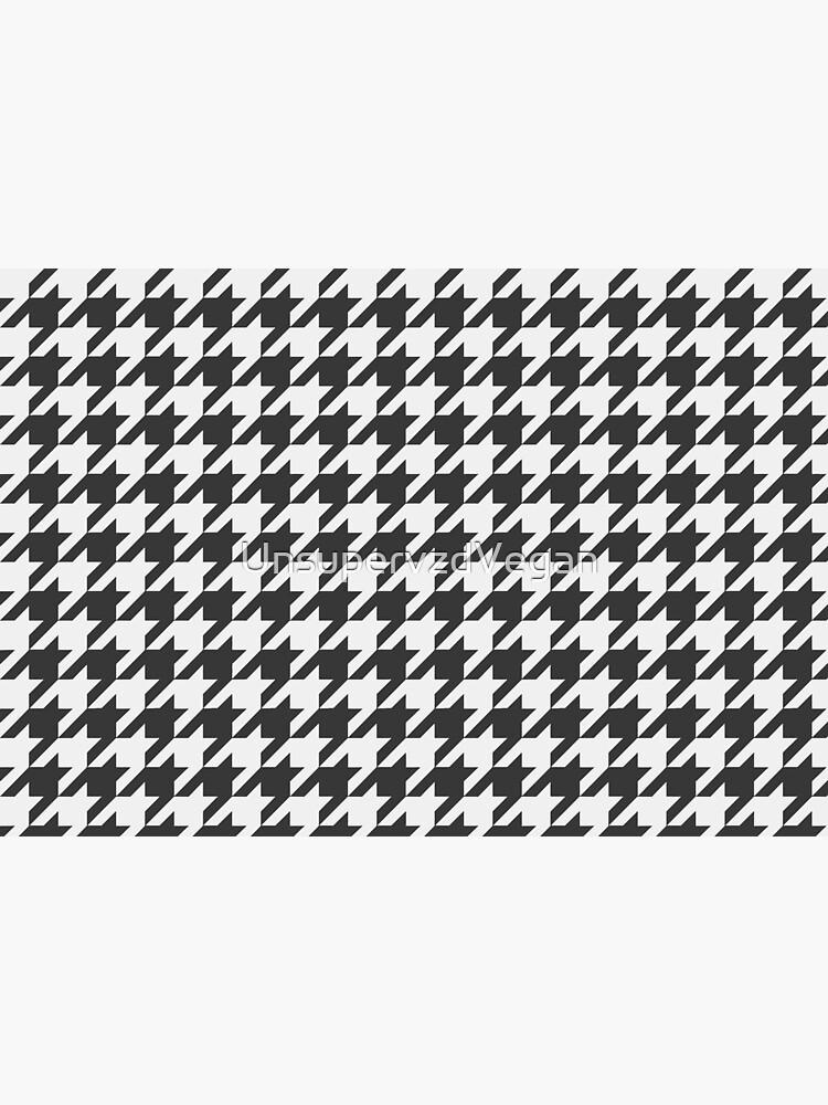 911 50th Anniversary Pepita Cloth - Black by UnsupervzdVegan