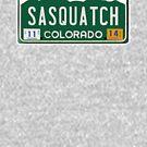 Colorado Sasquatch License Plate  by thebigfootstore