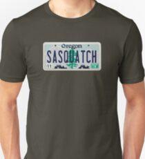 Oregon Sasquatch License Plate Unisex T-Shirt
