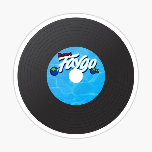 Blueberry Faygo Record Sticker