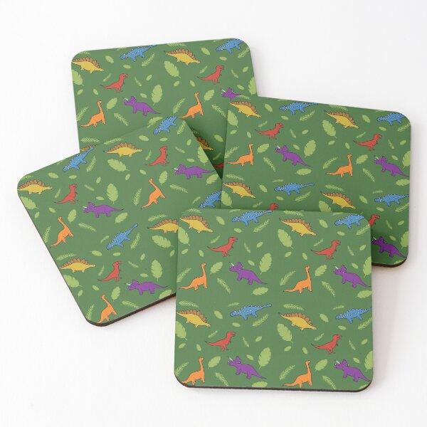 Cartoon Dinosaur Pattern Coasters (Set of 4)