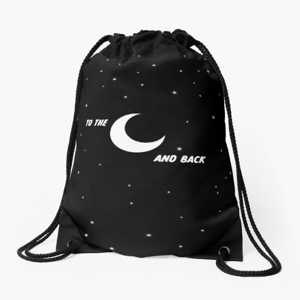 To the moon and back Drawstring Bag