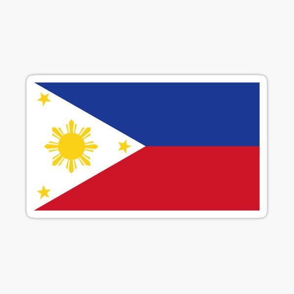 Sun and Stars Flag of the Philippines by AiReal Sticker