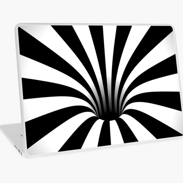 Optical Illusion Black Hole Lines (Black/White) Laptop Skin
