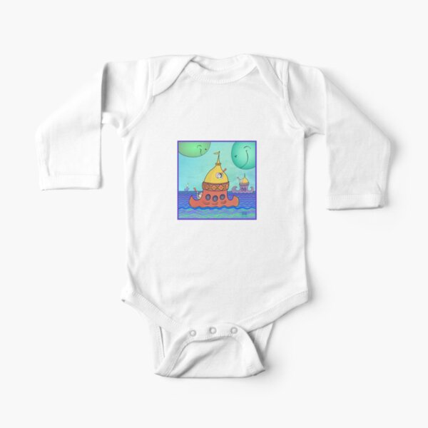 Curious Planets Long Sleeve Baby One-Piece