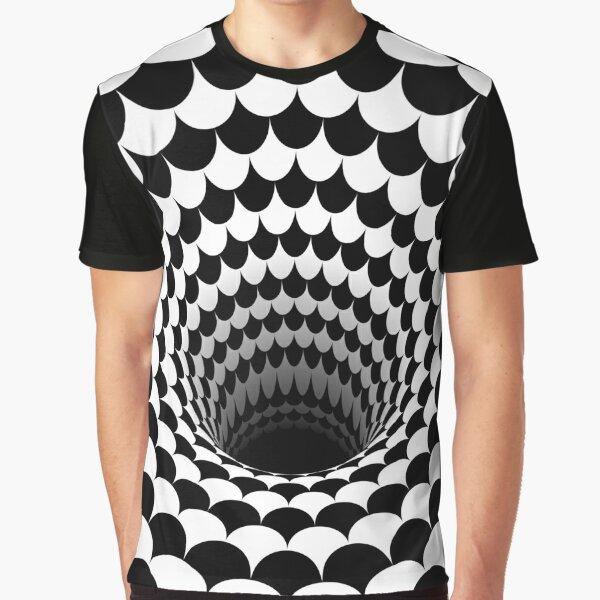 Optical Illusion Black Hole Scales (Black/White) Graphic T-Shirt
