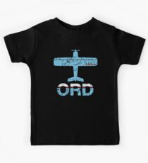 Fly Chicago ORD Airport Kids Tee
