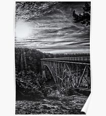 Landscape and architecture wall art black and white - The Bold Bridge Poster