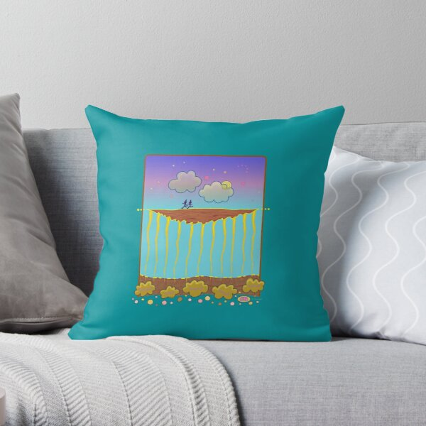 Land in the Sky Throw Pillow