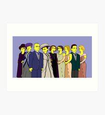 Downton Abbey - Cast of Nine Art Print